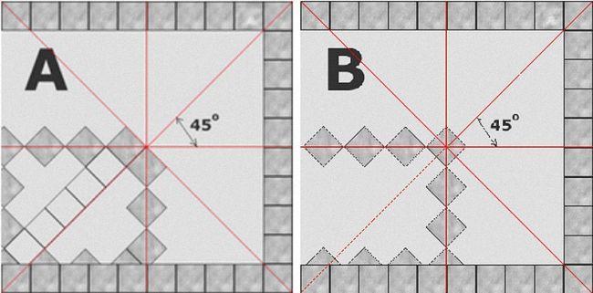 разметка плитки по диагонали