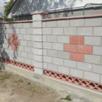 забор из декоративных бетонных блоков своими руками