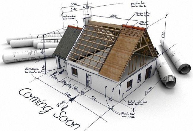 строительный проект крыша дом