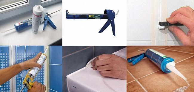 силиконовый герметик для ванной нанесение