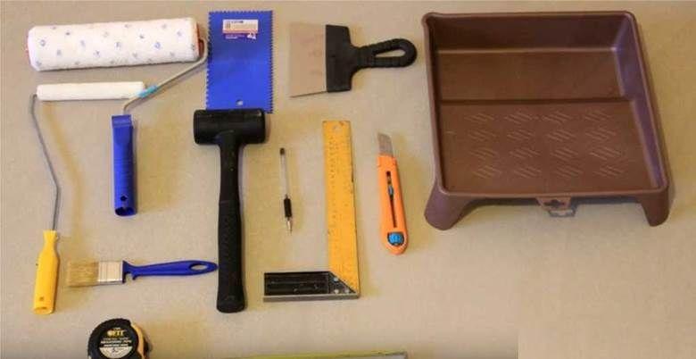 инструменты для  укладки пробки на пол