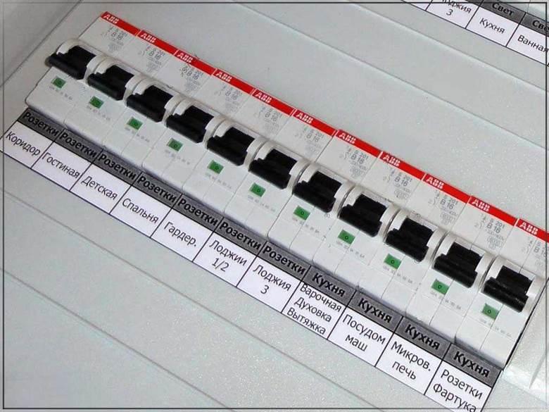 Пакетник автоматических выключателей