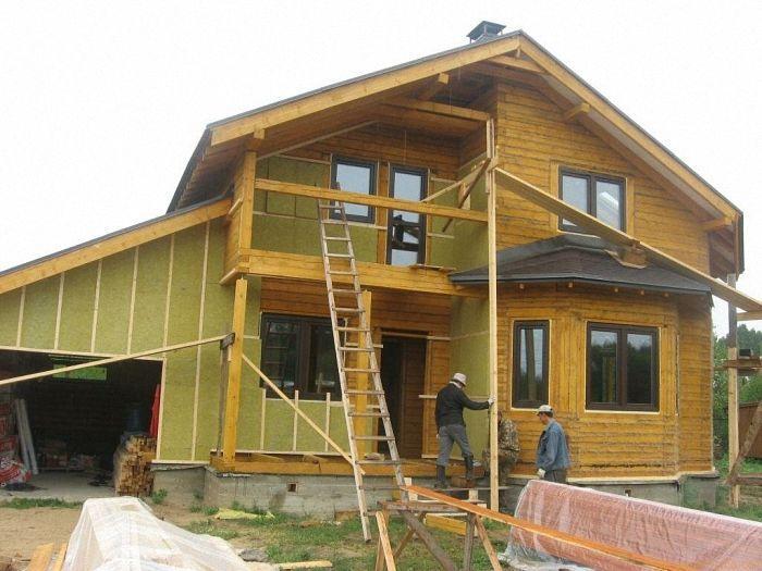 Технология утепление дома из бруса своими руками