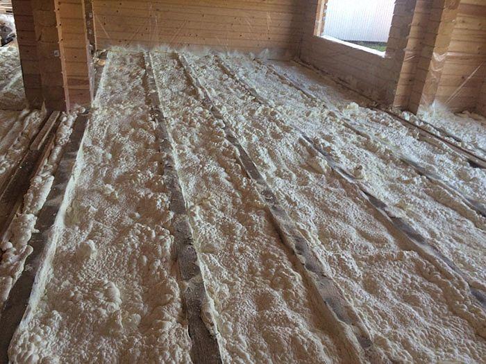 Утепление перекрытий в доме из бруса
