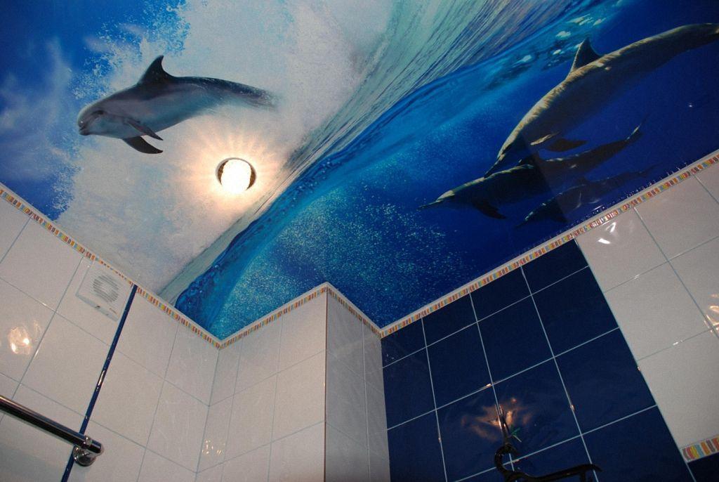 Натяжной потолок в ванной своими руками