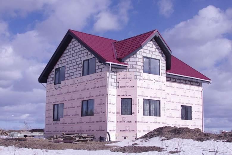 Дом из газобетона утепление