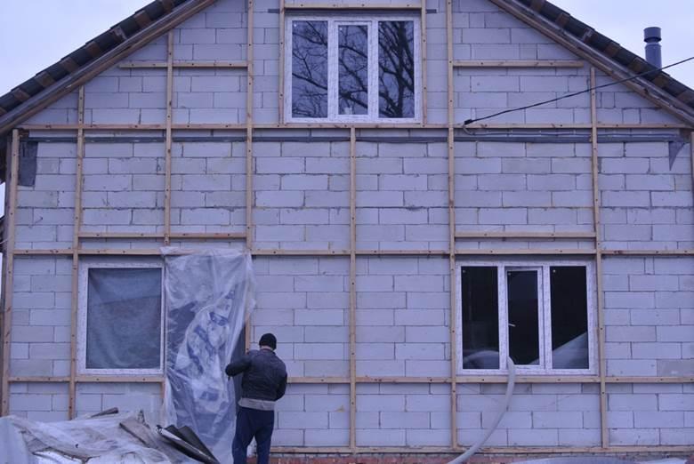 Пошаговое утепление фасада дома из газобетонных блоков