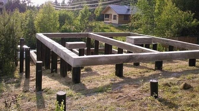 Свайно винтовой фундамент для дома из газобетона