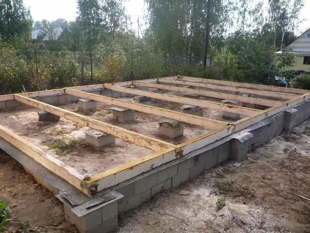 Блочный фундамент для дома из бруса