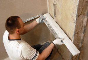 Выравнивание стен под угол 90 градусов своими руками